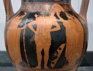 Fig 11 Eutimide (510 a.C.) La vestizione del soldato
