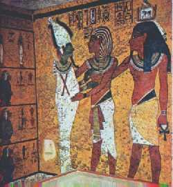 Fig 3 Introduzione di un giovane re morto nel mondo di Osiride XIV sec a.C. (Tomba di Tutankamon)
