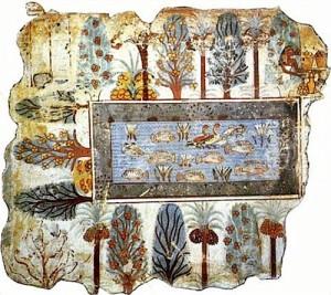 Fig 4 Giardino di Nebaum (XVI sec a.C.) (British Museum)